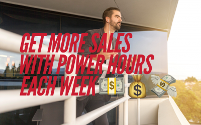 Getting More Sales With Power Hours Each Week